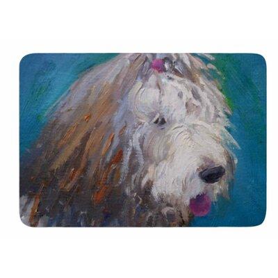 Shaggy Dog Story by Carol Schiff Memory Foam Bath Mat Size: 24 L x 17 W