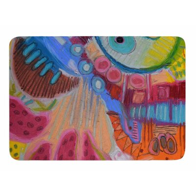 Papaya Dream by Jeff Ferst Memory Foam Bath Mat Size: 24 L x 17 W