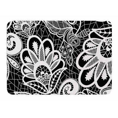 Floral Lace by Petit Griffin Memory Foam Bath Mat Size: 24 L x 17 W