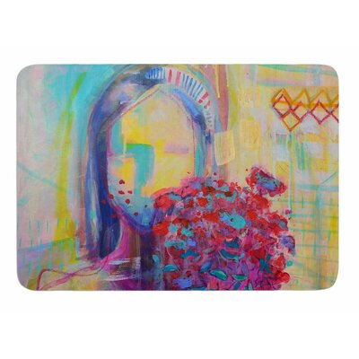 Girl With Plants III by Cecibd Memory Foam Bath Mat Size: 36 L x 24 W
