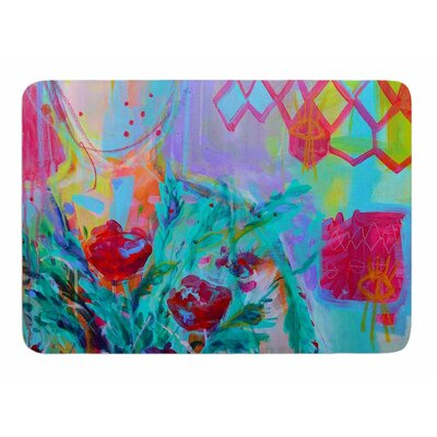 Girl With Plants I by Cecibd Memory Foam Bath Mat Size: 24 L x 17 W