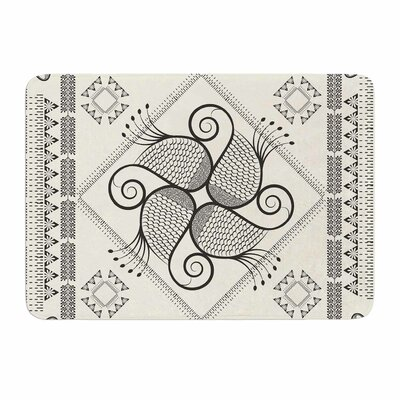 Paisley Into The Dream by Famenxt Memory Foam Bath Mat Size: 24 L x 17 W