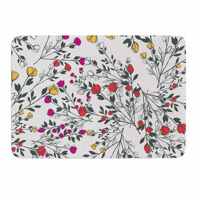 Rose Blossom Garden by Famenxt Memory Foam Bath Mat Size: 24 L x 17 W