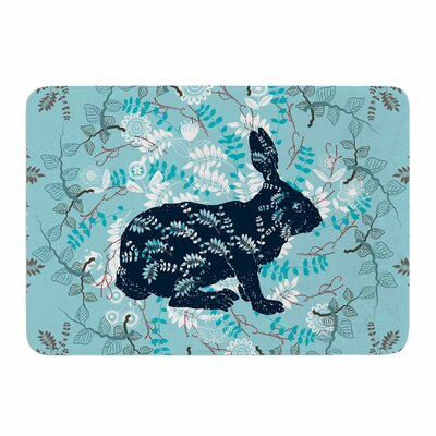 Bunny in The Jungle by Famenxt Memory Foam Bath Mat Size: 24 L x 17 W