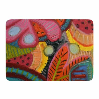 Tropic Delight by Jeff Ferst Memory Foam Bath Mat Size: 24 L x 17 W