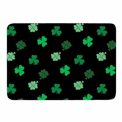 Shamrocks by NL Designs Memory Foam Bath Mat Size: 24 L x 17 W