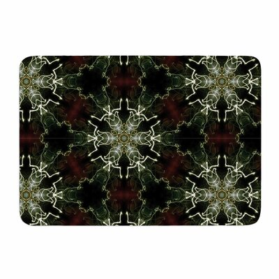 Mandala Lights by Gukuuki Memory Foam Bath Mat Size: 24 L x 17 W