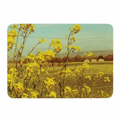 Spring Breeze by Graphic Tabby Memory Foam Bath Mat Size: 24 L x 17 W