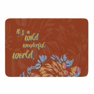 Wonderful World by Gukuuki Memory Foam Bath Mat Size: 24 L x 17 W