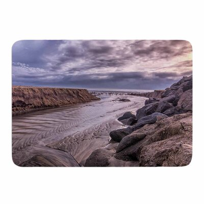 Clouds over Carlsbad Beach by Nick Nareshni Memory Foam Bath Mat Size: 24 L x 17 W