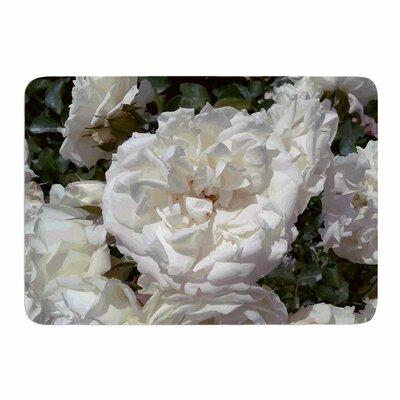 Flores Blancas by Julia Grifol Memory Foam Bath Mat Size: 36 L x 24 W