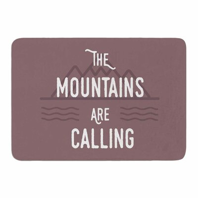 The Mountains are Calling by Jackie Rose Memory Foam Bath Mat Size: 36 L x 24 W