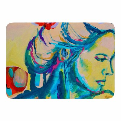 Still Waiting II by Cecibd Memory Foam Bath Mat Size: 24 L x 17 W