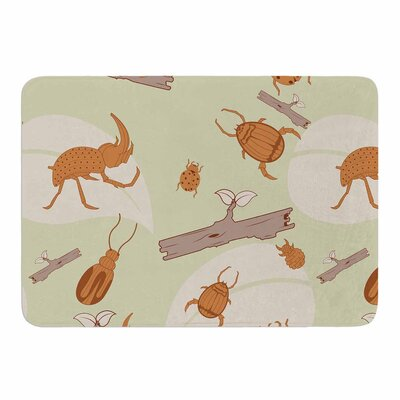 Beetles by Stephanie Vaeth Memory Foam Bath Mat Size: 36 L x 24 W