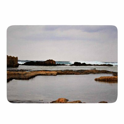 Dark Sea by Sylvia Coomes Memory Foam Bath Mat Size: 24 L x 17 W