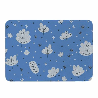 Autumn Leaves by Strawberringo Memory Foam Bath Mat Size: 24 L x 17 W