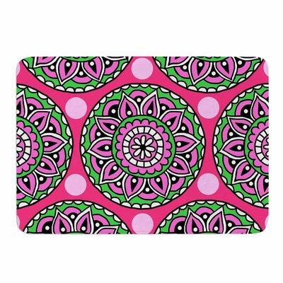 Watermelon Mandala by Sarah Oelerich Memory Foam Bath Mat Size: 36 L x 24 W