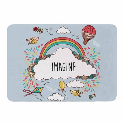 Imagine Memory Foam Bath Mat Size: 24 L x 17 W