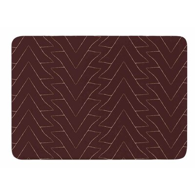 Brown Triangles by Julia Grifol Memory Foam Bath Mat Size: 24 L x 17 W