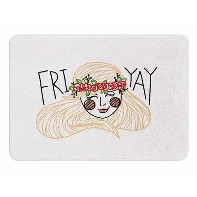 Fri-Yay by Busy Bree Memory Foam Bath Mat Size: 36 L x 24 W