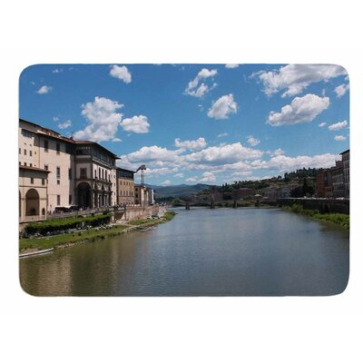 Canals of Italy by Nick Nareshni Memory Foam Bath Mat Size: 24 L x 17 W