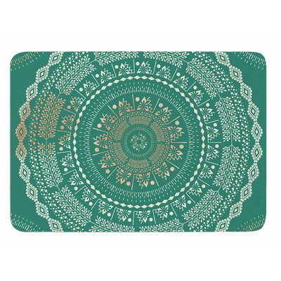 Mint Medallion by Famenxt Memory Foam Bath Mat Size: 24