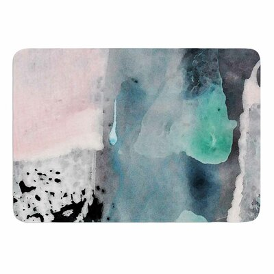 Abstract Color by Iris Lehnhardt Memory Foam Bath Mat Size: 24 L x 17 W