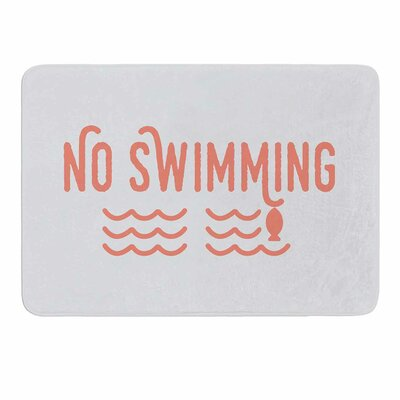 No Swimming by Jackie Rose Memory Foam Bath Mat Size: 24 L x 17 W