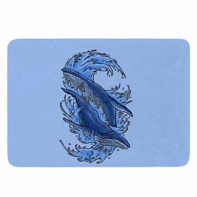 Humpback Whales by BarmalisiRTB Memory Foam Bath Mat Size: 36 L x 24 W