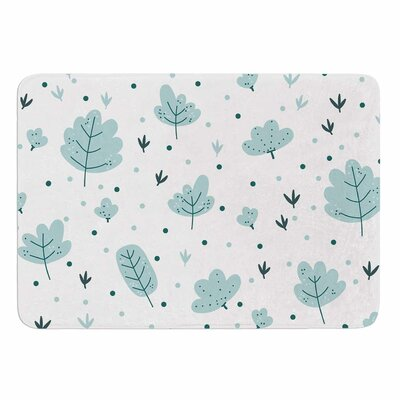 Leaves Pattern by Strawberringo Memory Foam Bath Mat Size: 24 L x 17 W
