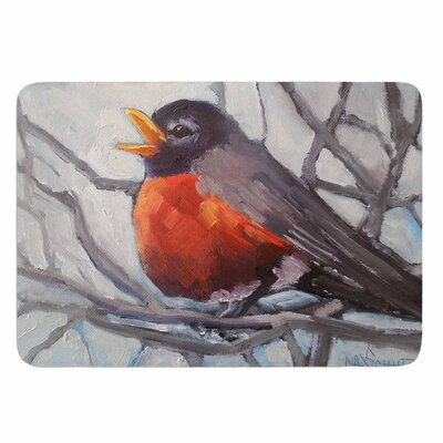 Winter Robin by Carol Schiff Memory Foam Bath Mat Size: 24 L x 17 W
