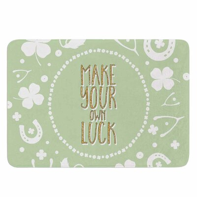 Own Luck Memory Foam Bath Mat Size: 24 L x 17 W
