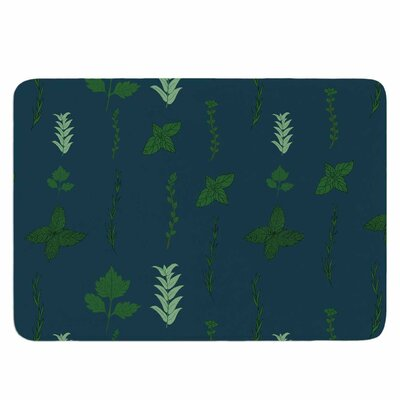 Herb Garden by Stephanie Vaeth Memory Foam Bath Mat Size: 24 L x 17 W