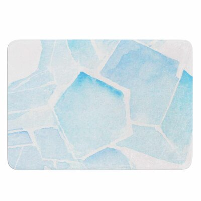 Blue Quartz by Jennifer Rizzo Memory Foam Bath Mat Size: 24 L x 17 W