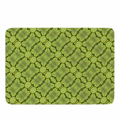 Leafy Lozenges by Laura Nicholson Memory Foam Bath Mat Size: 24 L x 17 W