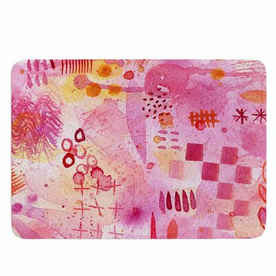 Sweet Dreams by Nic Squirrell Memory Foam Bath Mat Size: 24 L x 17 W