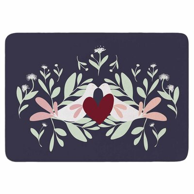 Love Nest by Mayacoa Studio Memory Foam Bath Mat Size: 24 L x 17 W