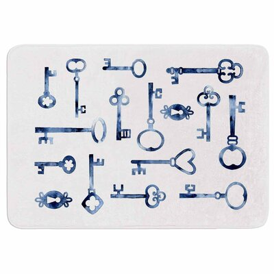 Indigo Keys by Nic Squirrell Memory Foam Bath Mat Size: 36 L x 24 W