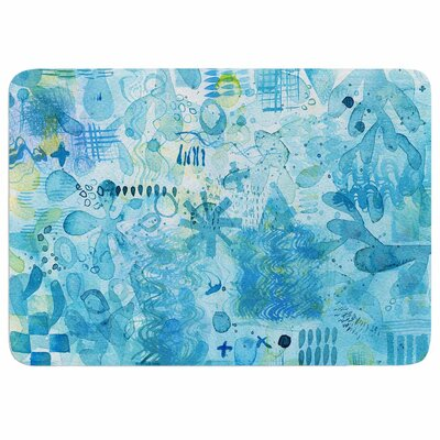 Floating by Nic Squirrell Memory Foam Bath Mat Size: 24 L x 17 W