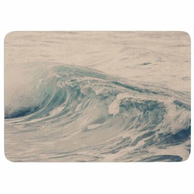 Waves 1 by Sylvia Coomes Memory Foam Bath Mat Size: 24 L x 17 W