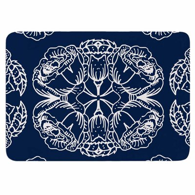 Williams Flowers by Jennifer Rizzo Memory Foam Bath Mat Size: 24 L x 17 W