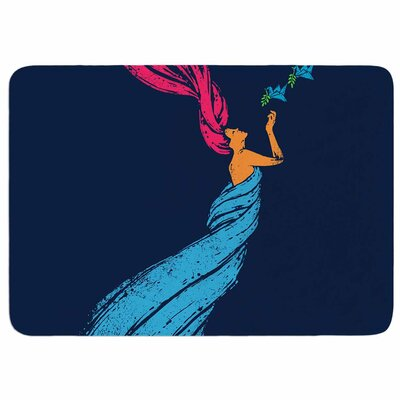 Welcomes Peace by BarmalisiRTB Memory Foam Bath Mat Size: 24 L x 17 W