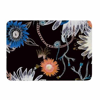 Dancing Flowers by Fernanda Sternieri Memory Foam Bath Mat Size: 24 L x 17 W