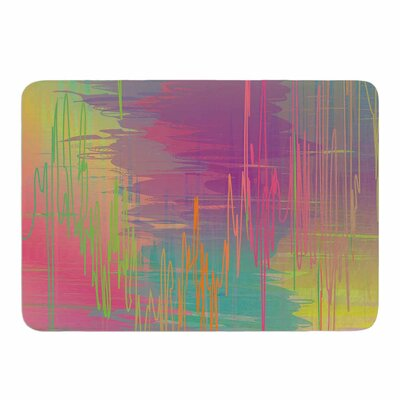 Rainbow Storm by Graphic Tabby Memory Foam Bath Mat Size: 24 L x 17 W