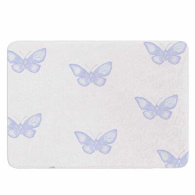Many Lavender Butterflies by Jennifer Rizzo Memory Foam Bath Mat Size: 36 L x 24 W