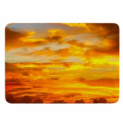 Painted Sunset by Philip Brown Memory Foam Bath Mat Size: 36 L x 24 W
