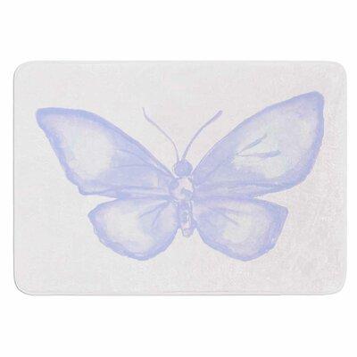 Lavender Butterfly by Jennifer Rizzo Memory Foam Bath Mat Size: 24 L x 17 W