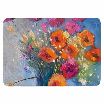 Roadside Bouquet by Carol Schiff Memory Foam Bath Mat Size: 36 L x 24 W