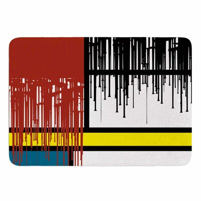 Saint Drips by Just L Memory Foam Bath Mat Size: 24 L x 17 W