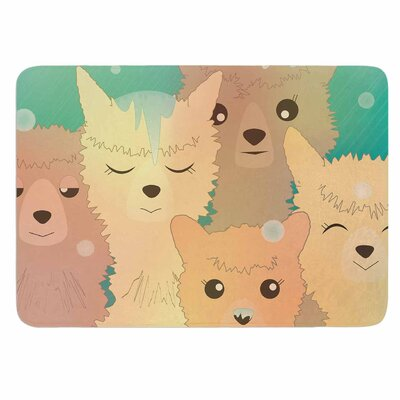 Alpacas in Snow by Graphic Tabby Memory Foam Bath Mat Size: 24 L x 17 W